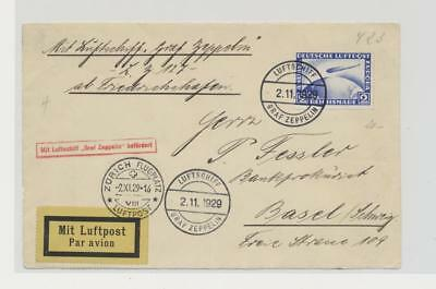 Germany- Zeppelin Cover Front Only Lot # 48