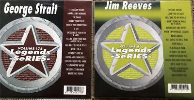 2 Cdg Karaoke Legends Discs Country Classics Jim Reeves & George Strait Cd+G