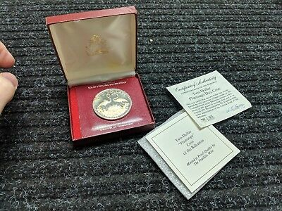 1975 BAHAMAS 2 DOLLARS STERLING SILVER PROOF COIN w/ box and COA - #26