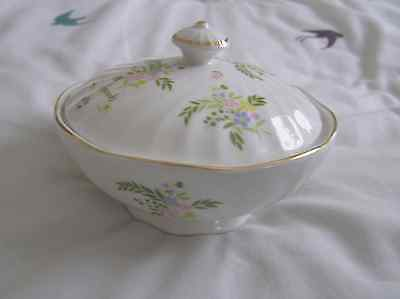 Vintage Harrods china lidded sugar bowl