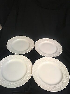 RALPH LAUREN WEDGWOOD CLAIRE CHINA England White Set of 4 Salad Plates Excellent
