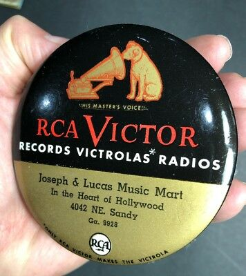 RCA Victor Record Cleaner Celluloid Hollywood California Victrola Nipper Dog