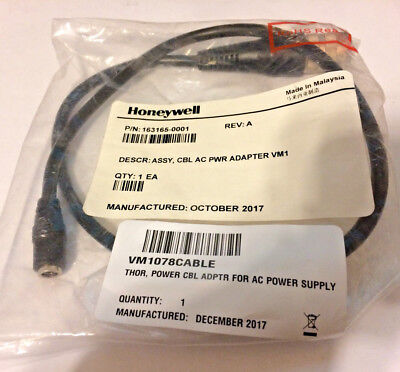 HONEYWELL 163165-0001 MOBILITY VM1078CABLE Power Cable Adapter for AC PWR NEW