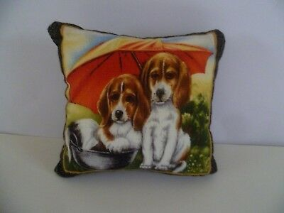 Pin Cushion Spaniel Cotton Front  and Velvet Reverse  New