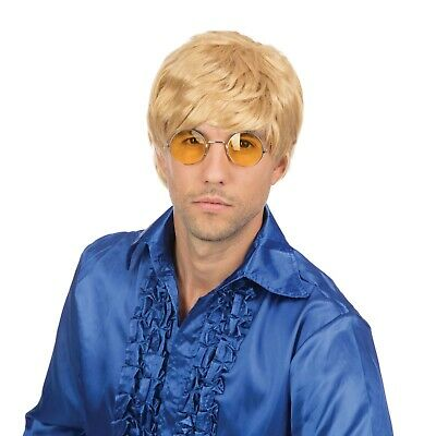 1960s 1970s Short Male Boy Band Blonde Wig