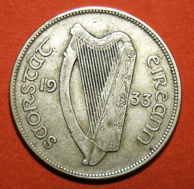 Ireland: Irish Silver  Halfcrown  1933.