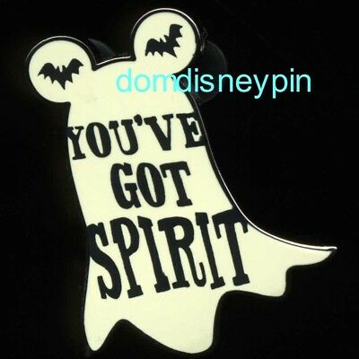 Disney Pin Parks Halloween (2018 Set) *You've Got Spirit* Ghost w/ Bats!