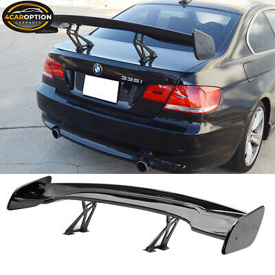 Fit Adjustable 57 Inch GT Wing ABS Glossy Black Rear Spoiler Wing Nissan