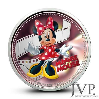 Niue 2014 $2 Disney Mickey & Friends 2014 Minnie Mouse 1 Oz Silver Proof Coin