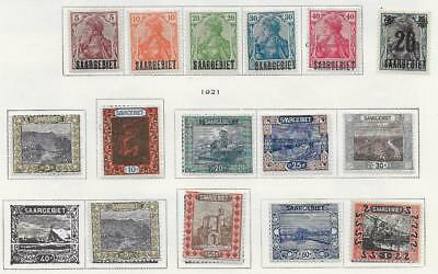 15 SAAR Stamps from Quality Old Antique Album 1920-1921