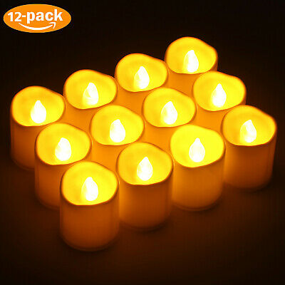 12pcs LED Tea Light Candles Battery Operated Votive Candles Flickering Flameless