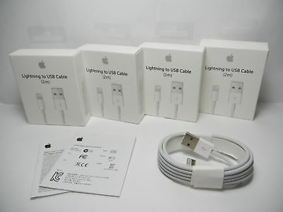 4 Pack OEM 2M Apple Lightning to USB Charging Cord Cable iPhone X 8 7 Plus 6S 6