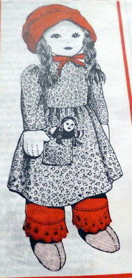 """Great Vtg 18"""" & 4"""" Doll & Clothing Sewing Pattern Uncut"""