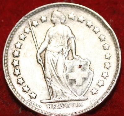 1948 Switzerland 1/2 Franc Silver Foreign Coin