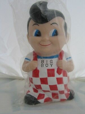 Colorful Collectible Frischs, Bobs, or Shoneys Big Boy Bank - New in Sealed Bag
