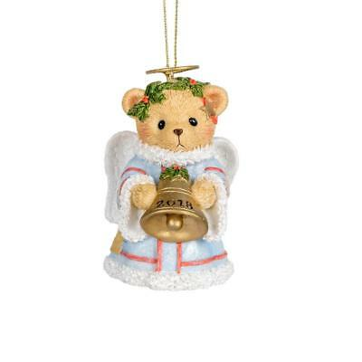 Cherished Teddies 2018 Dated Annual Angel Bell Hanging Ornament
