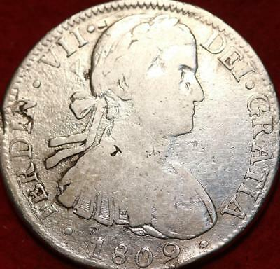 1809 Mexico 8 Reales Silver Foregin Coin
