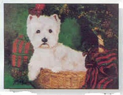 Eight Card Pack WESTHIGHLAND TERRIER Dog Breed Christmas Cards