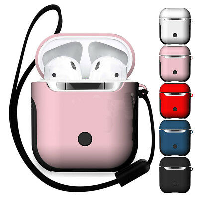 For Apple AirPods Case Shockproof Hybrid Silicone PC Hard Charging Cover Storage