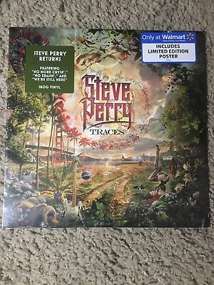 SEALED LP Steve Perry Traces + Limited Edition Poster New 180 Vinyl Journey Rock