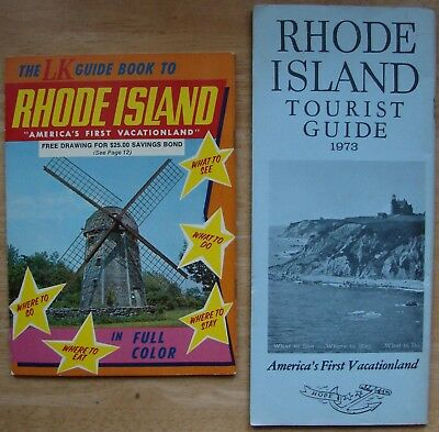 1973 Rhode Island Tourist Guide Booklet And 1970 Lk Guide Book