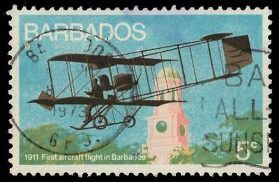 """BARBADOS 384 (SG472) - Aviation History """"First Flight in 1911"""" (pa72329)"""