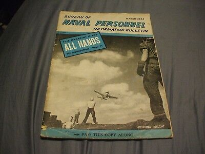 ALL HANDS BUREAU OF NAVAL PERSONNEL INFORMATION BULLETIN Magazine - March 1944