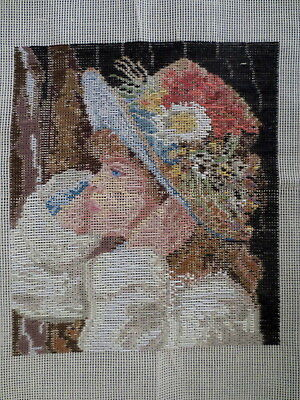 Tapestry Asian Long Stitch Girl In Hat