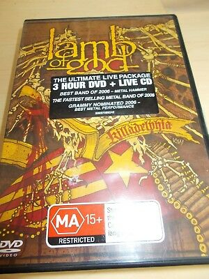 Lamb Of God - Killadelphia - Dvd / Live Cd  - Region 4 - Metal - Very Clean