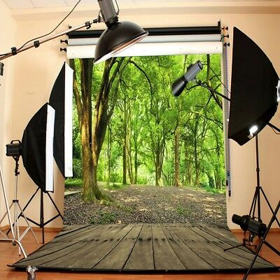 AU 5x7FT Forest Tree Wood Plank Scenery Photography Backdrop Background Props