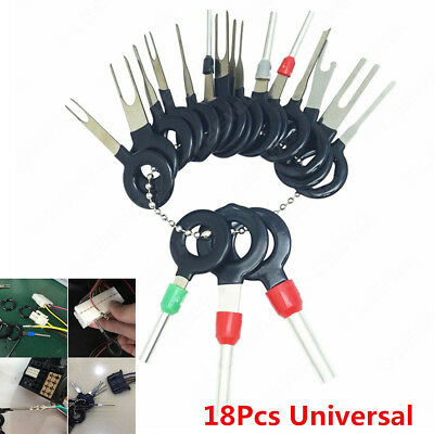 18PCS Car Terminal Removal Tool Wiring Connector Extractor Puller Release Pin