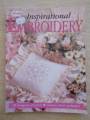 Inspirational Embroidery~18 Projects~Journal~Blankets~Angel~Cushions~Ribbon~1999