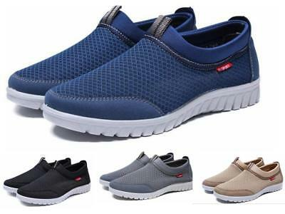 New Mens Running Athletic Fitness Gym Running Sports Comfy Slip on Shoes Size