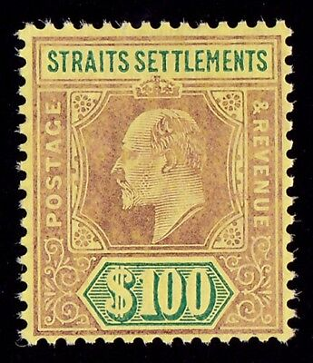 MALAYA - STRAITS SETTLEMENTS 1904 KEVII $100 PHOTO CERTIFICATE cat £22,000