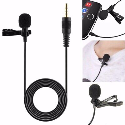 3.5mm Support Clip Pince de Micro Microphone Cravate Pour Ordinateur Iphone