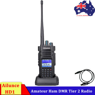Ailunce HD1 UHF/ VHF Ham Walkie Talkies 2Way Radio Dual Band DMR Digital DCDM AU