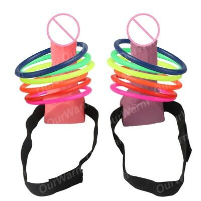 Dick Head Game Willy Ring Toss Heads Hoopla Bride To Be Hen Do Stag Party Gift