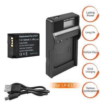Bonacell Battery LP-E17 and charger for Canon EOS Rebel T6i T7i 750D 800D M3 HT