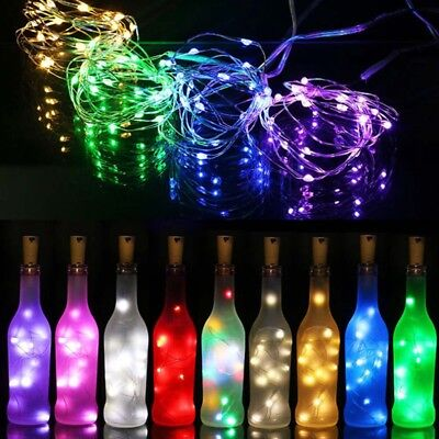 2m 20 LED Wine Bottle Cork Shaped String Fairy Lights Night Lamp Starry Sky Cool