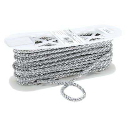 "Simplicity Large Metallic Twisted Cord 1/4""x18yd-silver"
