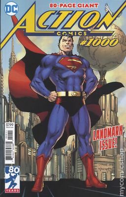 Action Comics (3rd Series) #1000 2018 Lee Variant NM Stock Image