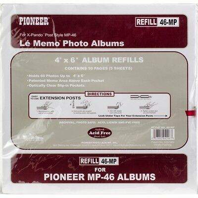 Pioneer 6-up Refill Pages 6/pkg-for Mp46 Photo Album