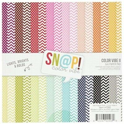 Simple Stories Snap Color Vibe Ii Paper Pad (24 Pack) - Doublesided Pkgsnp Inch