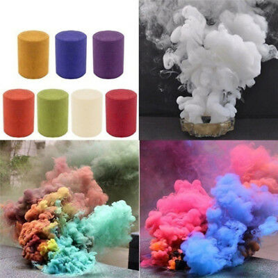 Smoke Cake Colorful Smoke Effect Show Round Bomb Stage Photography Aid Toy Gift@