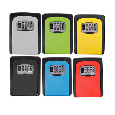 6x Key Safe Lock Box Outdoor Storage 4 Password Key Combination Wall Mounted