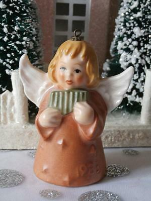 Vintage 1983 8th Edition Goebel Angel Bell  Annual Christmas Tree Ornament