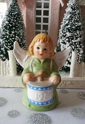 Vintage 1984 9th Edition Goebel Angel Bell  Annual Christmas Tree Ornament