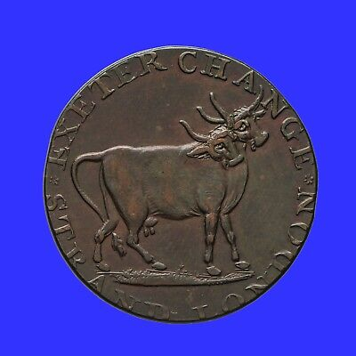 Middlesex Pidcock's halfpenny token  Two Headed Cow / Toucan  D&H 454