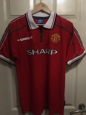 Manchester United 1999 Home Retro Soccer Shirt (New with tags)