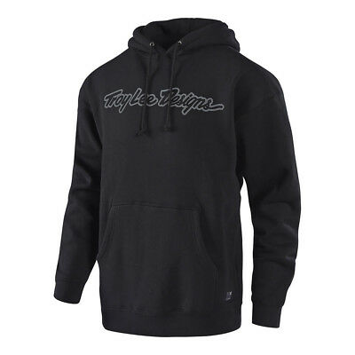 Troy Lee Designs Signature Pullover Hoodie Black/Gray